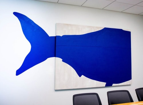Paintings by ANTLRE - Hannah Sitzer seen at Google RWC SEA6, Redwood City - Fish