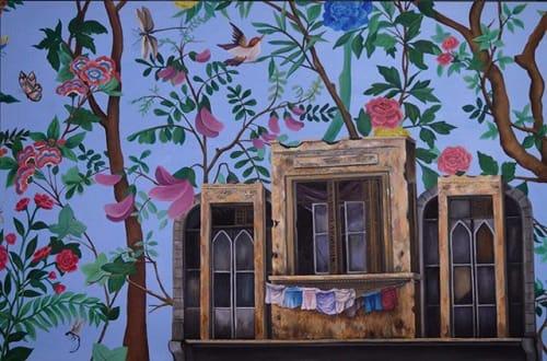 Paintings by SamarSalam.art seen at Detroit, Detroit - Boujee Beirut