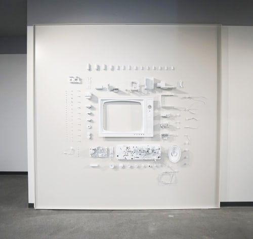 """Art & Wall Decor by ANTLRE - Hannah Sitzer seen at Turner Broadcasting System Inc, Atlanta - """"Deconstructed Television"""""""