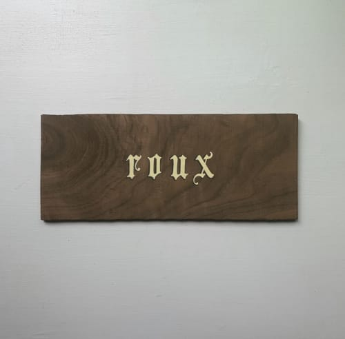 Signage by Paper Cliché seen at Private Residence, Costa Mesa - Custom Name Sign