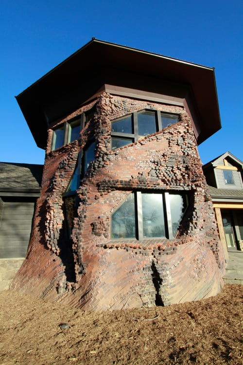 Sculptures by Michael Morgan seen at Private Residence, Omaha - Memory Wall