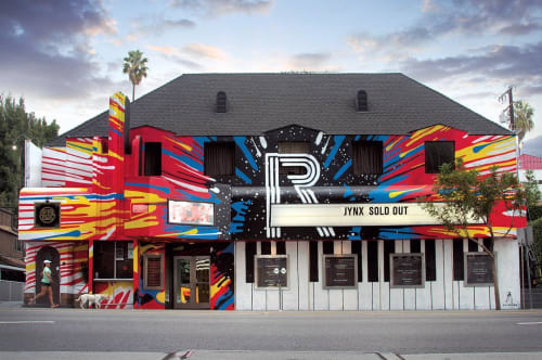 Murals by Kii Arens seen at The Roxy Theatre, West Hollywood - JYNX at The Roxy