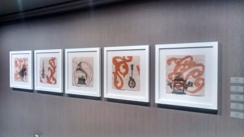 Paintings by Paul Flippen seen at The Elizabeth Hotel, Autograph Collection, Fort Collins - Calliope