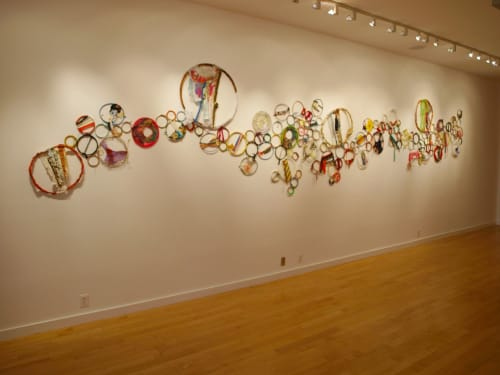Wall Treatments by Amber Robles-Gordon seen at Honfleur Gallery, Washington - With Every Fiber of My Being