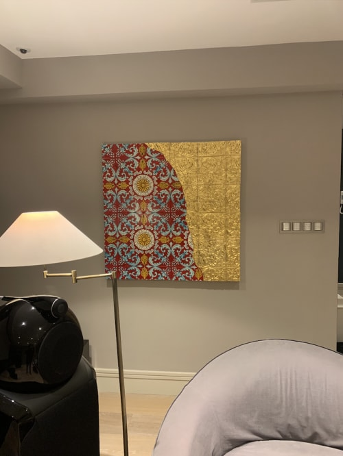 Paintings by Salvatore Battaglia seen at Private Residence, London - New Sunset