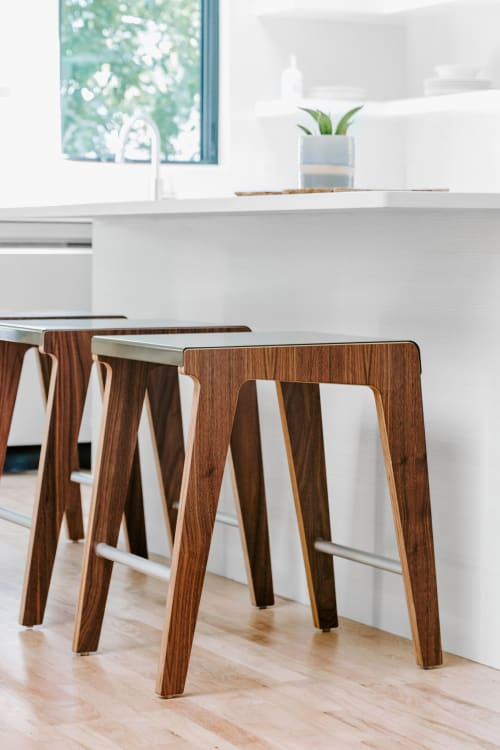 Chairs by Housefish seen at Private Residence, Denver - Unlock Counter Stool