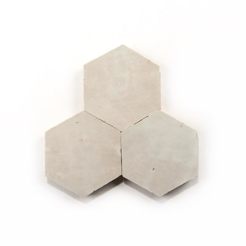 Tiles by Zia Tile seen at The Californian, San Diego - Casablanca White Zellige Hex