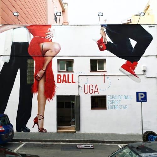 Street Murals by Dase - Marc Álvarez seen at BALLuga't - Espai de Ball, Esport i Benestar, Castelldefels - Hand-painted Mural