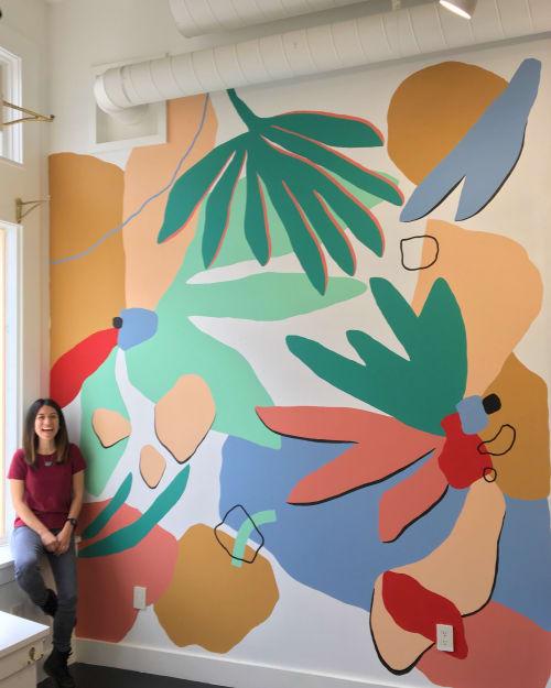 Street Murals by Fernanda Martinez - LA TINTA seen at Palm + Perkins, Berkeley - Botanical Mural