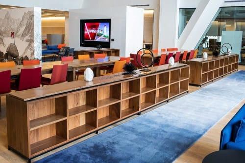 Furniture by Adam Karr seen at Comcast Technology Center, Philadelphia - Custom Bookcases