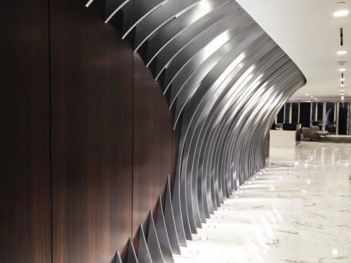 Wall Treatments by Amuneal seen at Gunster, Miami - Gunster Feature Wall