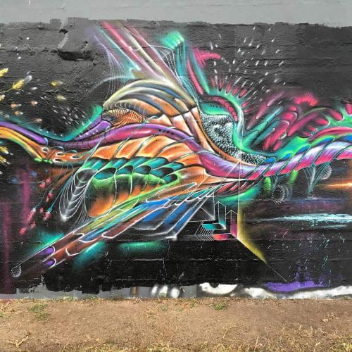 Street Murals by Max Ehrman (Eon75) seen at Wynwood, Miami, Miami - Wall Mural