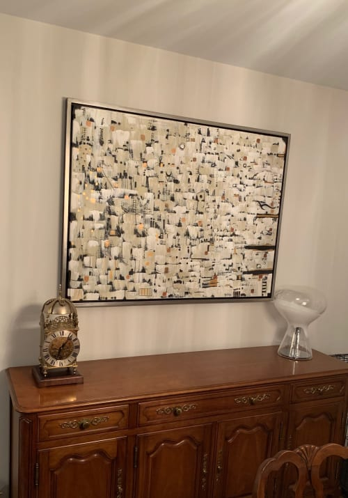 Paintings by Novei Beige seen at Private Residence, St. Louis - Compromise