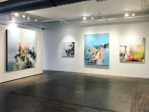 Paintings by Sara Pittman Studio seen at Walker Fine Art, Denver - Paintings hanging in Walker Fine Art Gallery