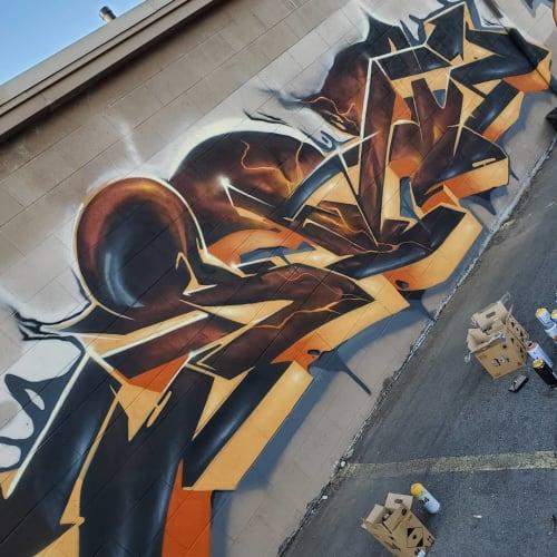 Street Murals by SRIL ART seen at DT Auto Brokers, Salt Lake City - Street Graffiti
