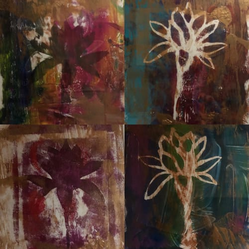 Paintings by Andrea Lamarsaude seen at Private Residence, Dallas - Abstracted Florals