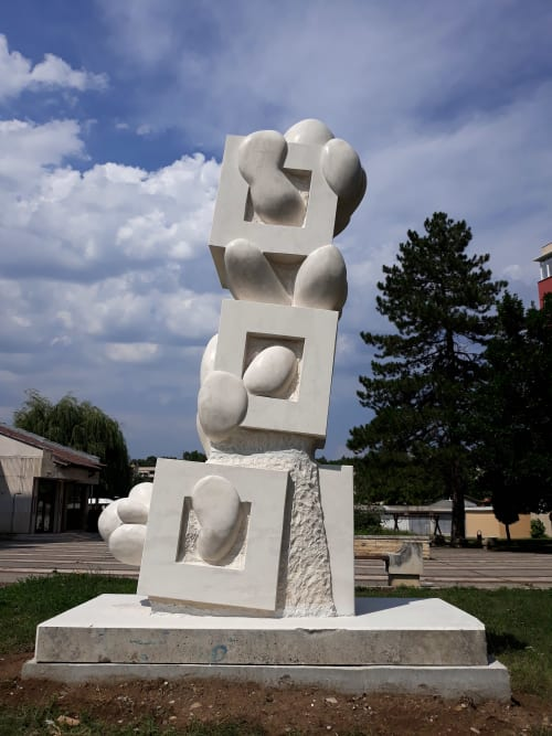 Public Sculptures by Rafail Georgiev - Raffò seen at Mezdra, Mezdra - InSideOutSideIn
