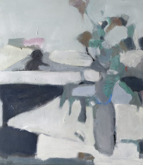 Paintings by Jane Canfield seen at Blackheath, Blackheath - Studio still life with Daisy