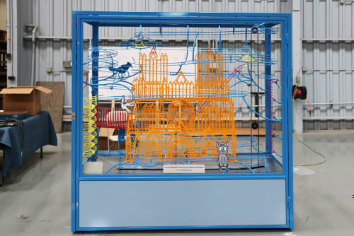 Sculptures by George Rhoads seen at American Memorial Hospital, Reims - Cathedral Coaster