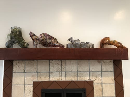 Sculptures by Gwen Samuels Art at Private Residence, Los Angeles - Lizard Skin Shoe