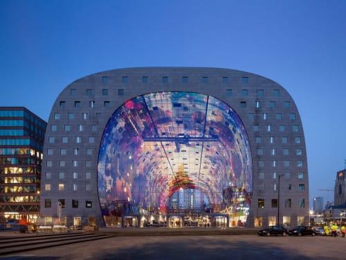 Architecture by MVRDV seen at Smöoy Rotterdam The Markthal, Rotterdam - The Markthal
