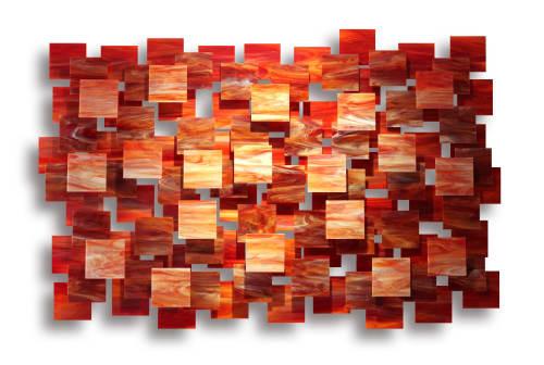 """""""Sedona"""" Glass and Metal Wall Art Sculpture   Sculptures by Karo Studios"""