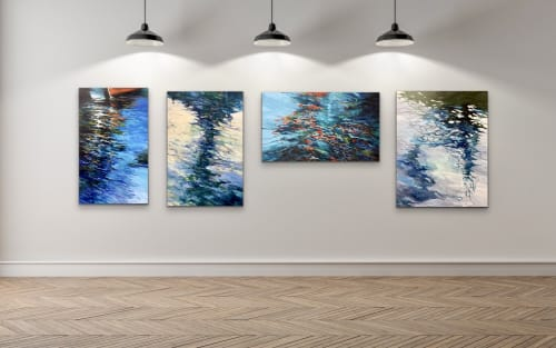 Paintings by Cathy Boyd seen at Creator's Studio, Midland - Abstract Waterscape Series