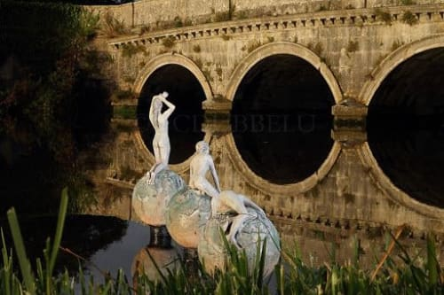 Public Sculptures by Ann Meldon Hugh seen at Carton House, Maynooth - Awakening