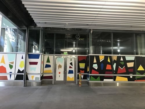 Street Murals by Lady Henze Art seen at Salesforce Transit Center, San Francisco - Salesforce Transit Center Mural