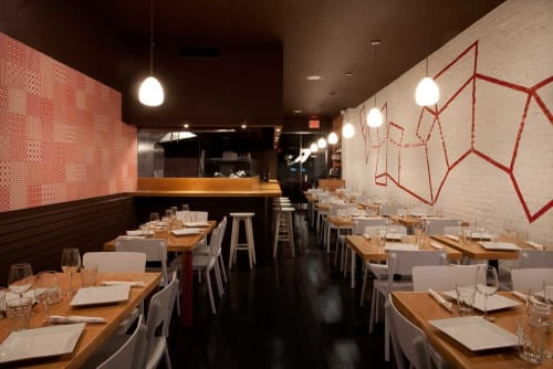Interior Design by Sergio Mannino Studio seen at Susanna Pizzeria, New York - Interior Design
