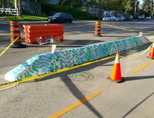 Street Murals by Planta Muisca seen at Lake Shore Drive, Toronto - Mural