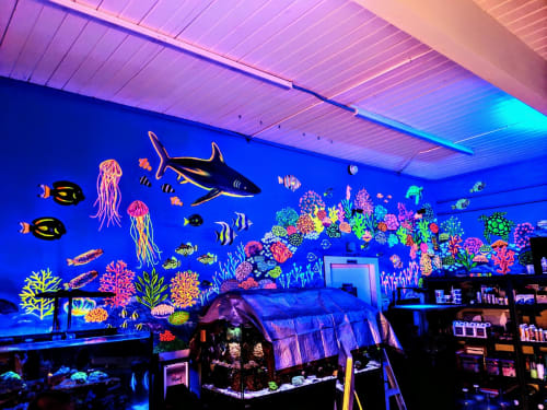 Murals by Phunky Artz seen at Palmetto Reef, West Columbia - Underwater Sea Mural