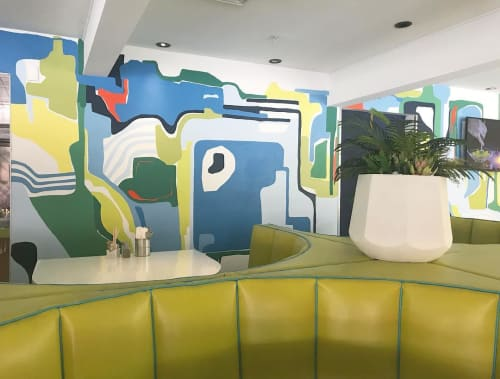 Murals by Taylor Crockett seen at Morning Squeeze, Scottsdale - Mural Painting