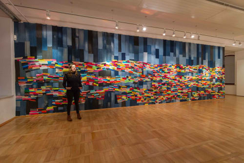"""Wall Treatments by Andrea Myers seen at Textil- Und Rennsportmuseum Trm, Hohenstein-Ernstthal - """"Mending the Sky"""" 2020"""