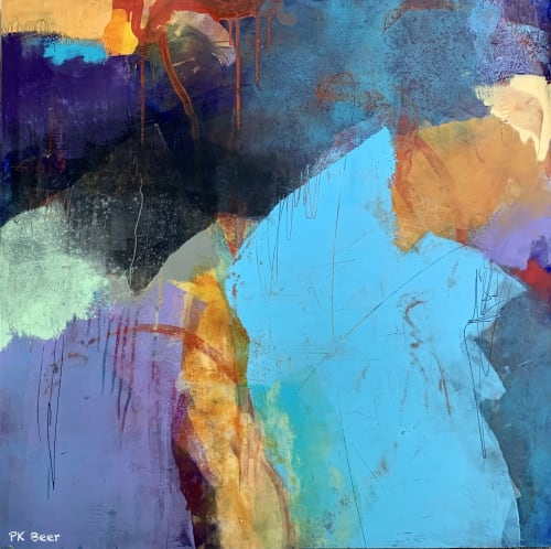 """Paintings by Pamela K Beer Contemporary Fine Art seen at Creator's Studio, Sammamish - """"Deep Thoughts"""""""