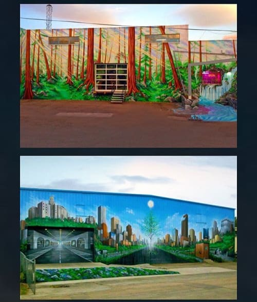 Murals by Be Free Artistry seen at Denver, Denver - Freehand Murals in The RINO Arts District