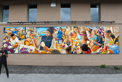 Street Murals by Andrew Reid SHEd seen at Port of Kennewick, Kennewick - Latino Heritage Murals