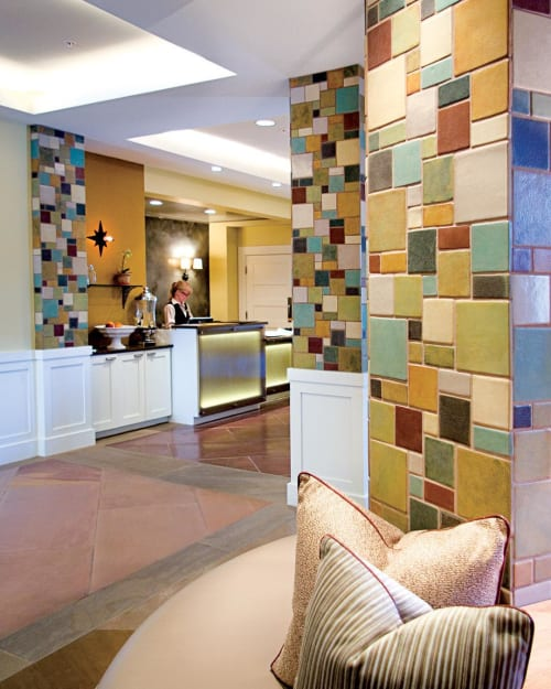 Tiles by Syzygy Tile seen at Hotel Parq Central, Albuquerque - Mosaic Tiles