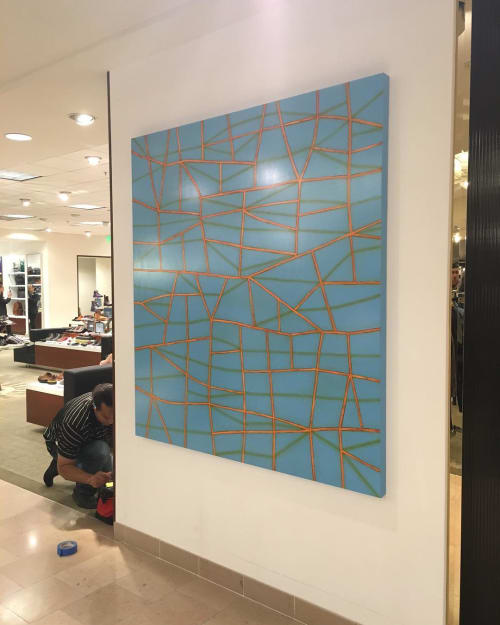 "Paintings by Jamie Brunson seen at Neiman Marcus, San Francisco - ""Shortcut, 2016"""