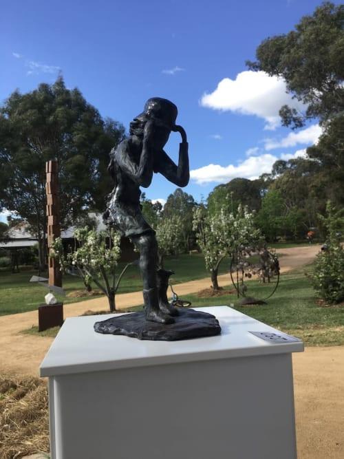 Sculptures by Alan Kuczynski seen at Mudgee, Mudgee - It's a bit windy today
