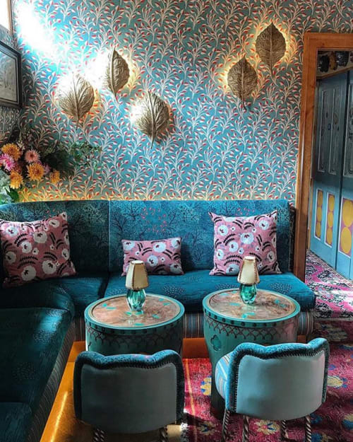 Verre Eglomise Table Tops By Rupert Bevan Ltd Seen At 5 Hertford Street Club London Wescover