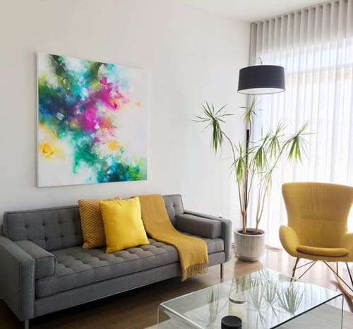 """Paintings by Deniz Altug seen at Private Residence, Montreal - """"The power of kindness"""""""