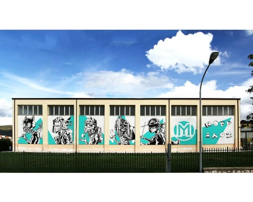 Street Murals by Noty Aroz seen at Domicella, Domicella - Bambini della Mythologeny Wall Mural