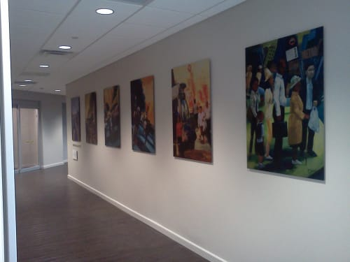 Wall Hangings by Keith Doles seen at Zimmer Biomet CMF & Thoracic, Jacksonville - Everyday People mixed media art wall
