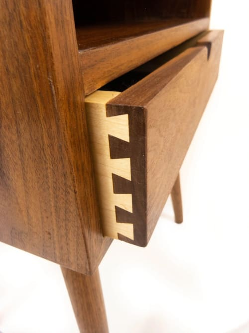 Solid Walnut Nightstand / Bedside Table | Tables by ColombeFurniture