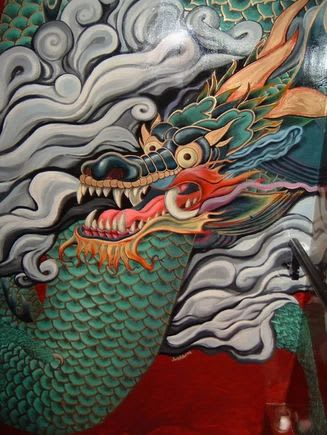 Murals by JALLEN Art and Design seen at Lower East Side, New York - Dragon Mural