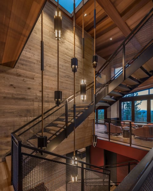 Chandeliers by Daikon Studio seen at Martis Camp, Truckee - Darko Drop Chandelier