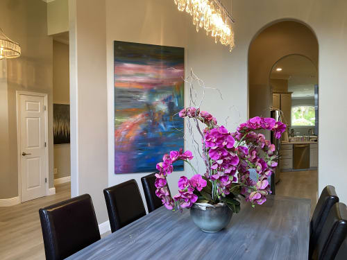 Paintings by Strokes by Red - Red (Linda Harrison) seen at Private Residence, Lake Mary - Reflections On the Lake