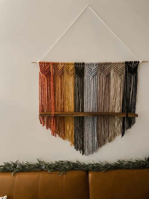 Macrame Wall Hanging by Native and Found seen at Native & Found Office, Richmond - PRIDE