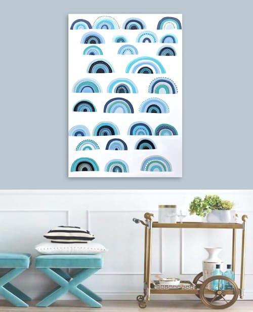 Paintings by Linnea Heide contemporary fine art seen at Creator's Studio, Asheville - 'BLUE MONDAY'